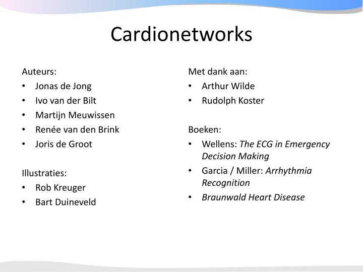 Cardionetworks