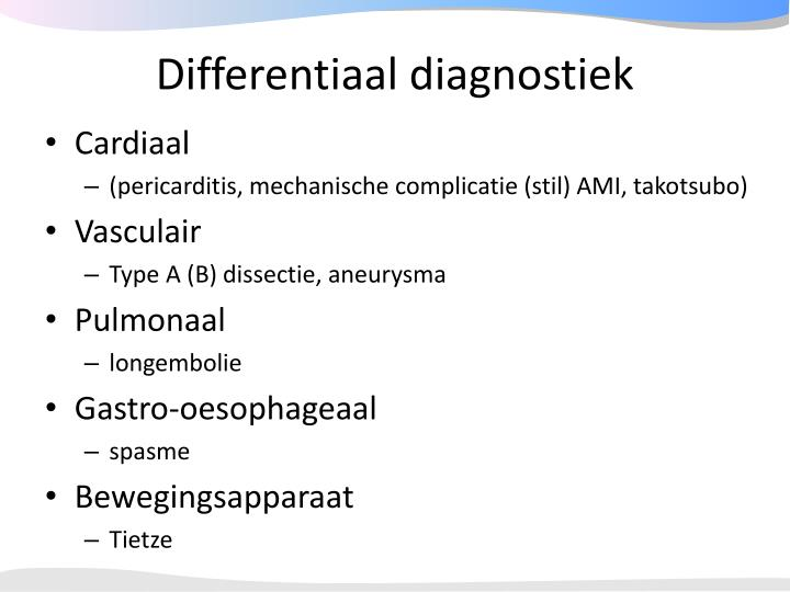 Differentiaal diagnostiek