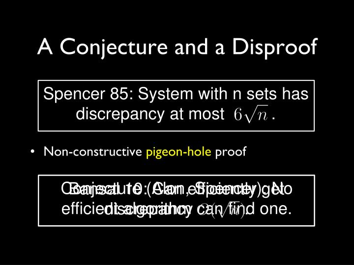 A Conjecture and a Disproof
