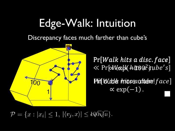 Edge-Walk: Intuition