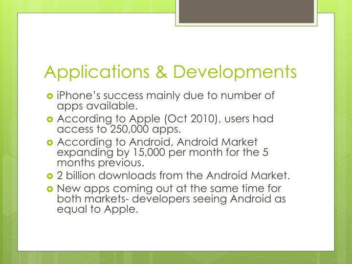 Applications & Developments