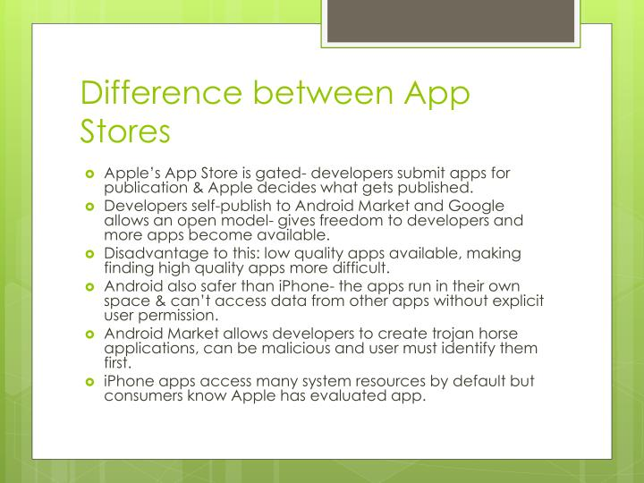 Difference between App Stores