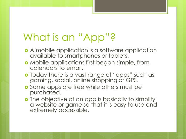 "What is an ""App""?"