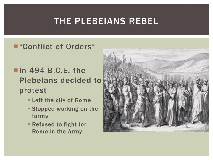 The plebeians rebel