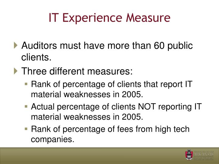 IT Experience Measure