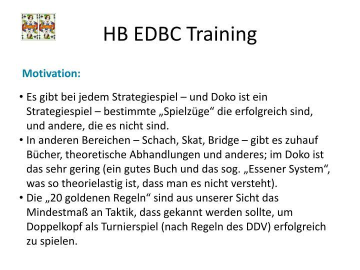 HB EDBC Training
