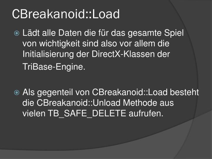 CBreakanoid::Load