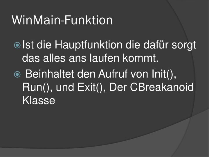 WinMain-Funktion