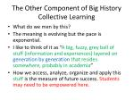 the other component of big history collective learning