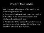 conflict man vs man