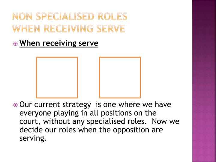 Non Specialised Roles