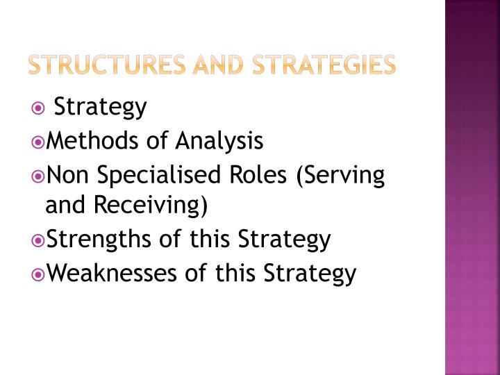 Structures and strategies1