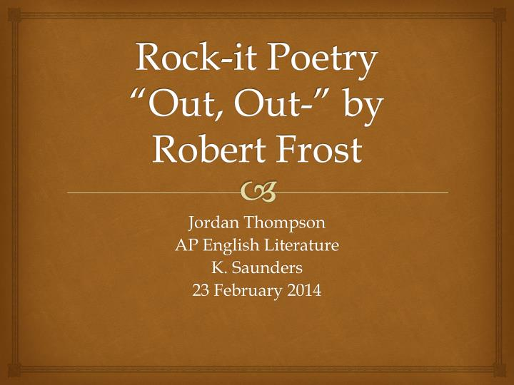 essay about robert frost poetry