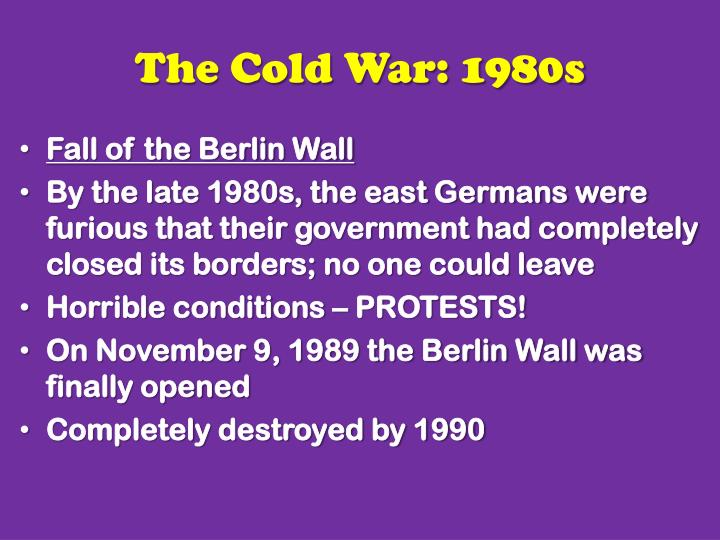 the cold war 1980s 1990s essay