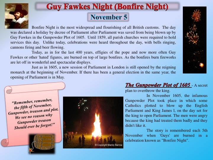 Guy Fawkes Night (Bonfire Night)