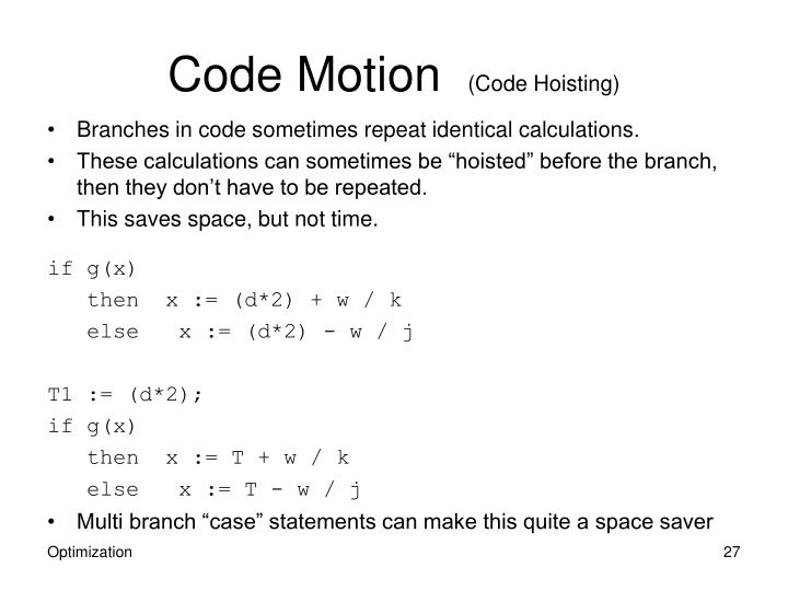 Code Motion