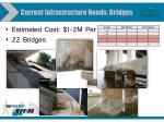 current infrastructure needs bridges