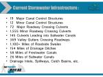 current stormwater infrastructure