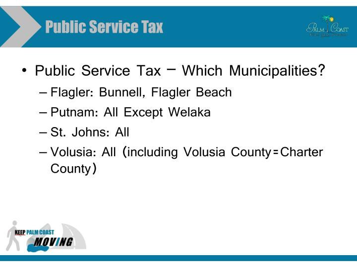Public Service Tax