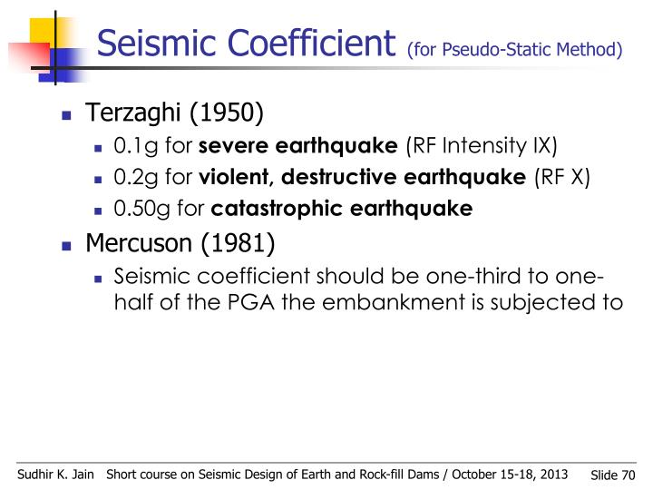 Seismic Coefficient