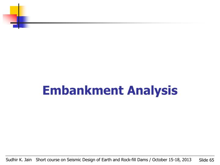 Embankment Analysis