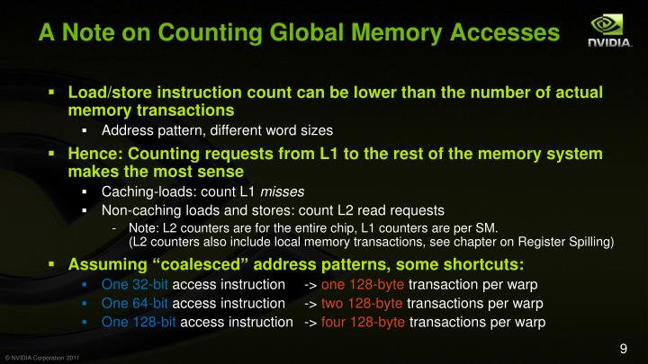 A Note on Counting Global Memory Accesses