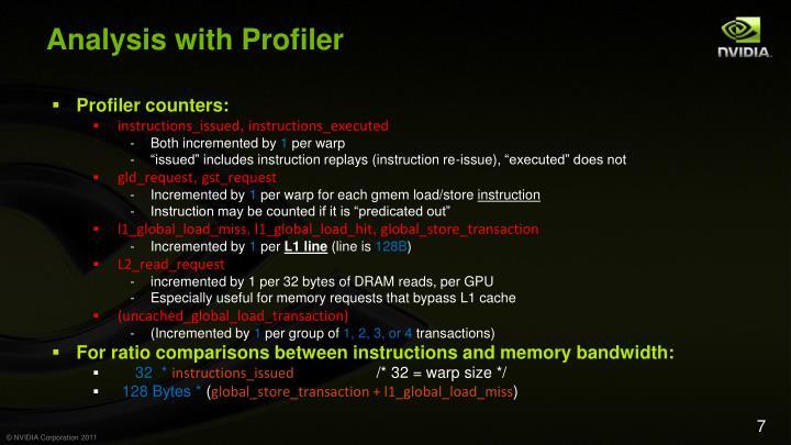 Analysis with Profiler