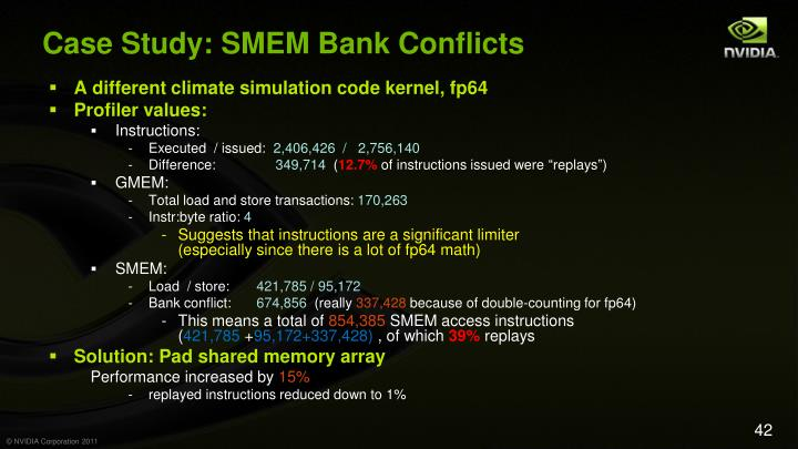 Case Study: SMEM Bank Conflicts