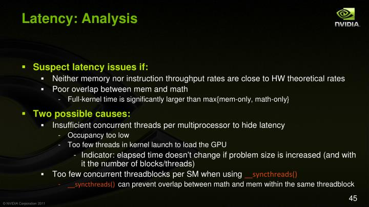 Latency: Analysis