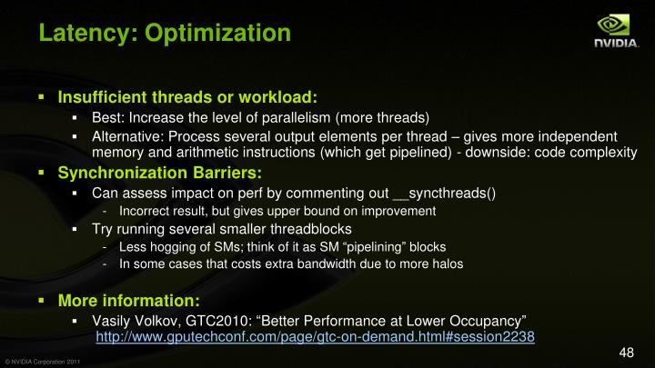Latency: Optimization