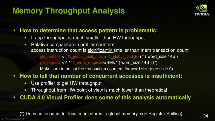 Memory Throughput Analysis