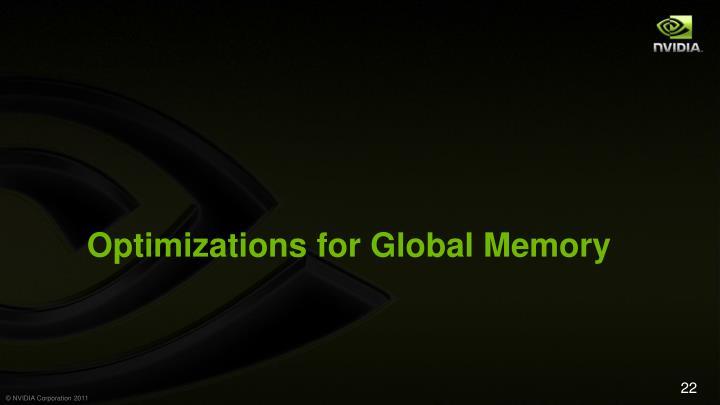 Optimizations for Global Memory