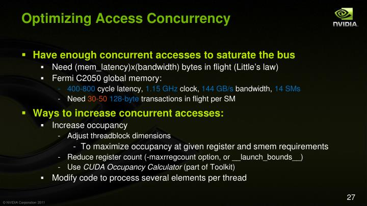 Optimizing Access Concurrency