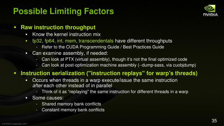 Possible Limiting Factors