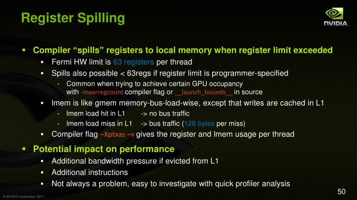 Register Spilling