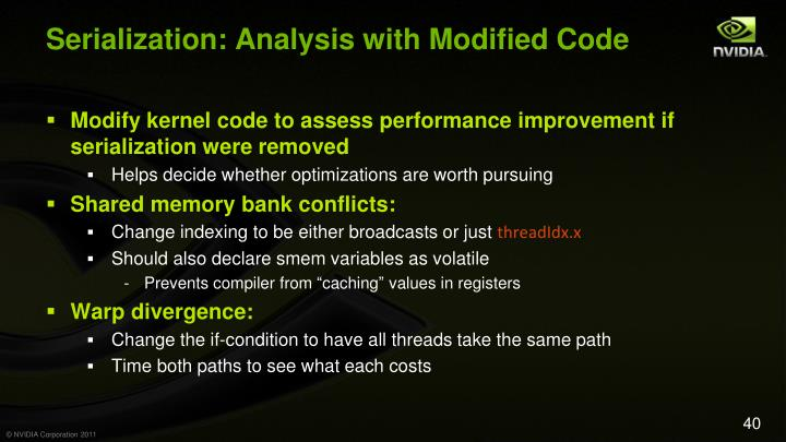 Serialization: Analysis with Modified Code
