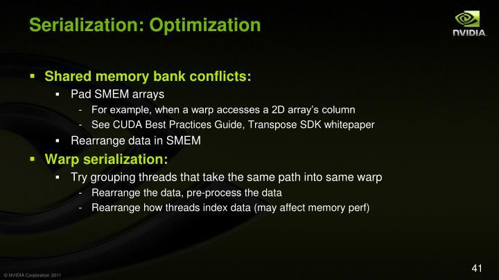 Serialization: Optimization