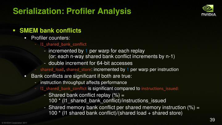 Serialization: Profiler Analysis