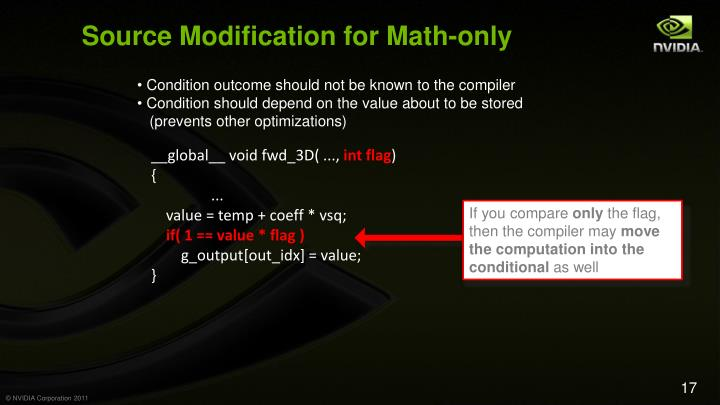 Source Modification for Math-only