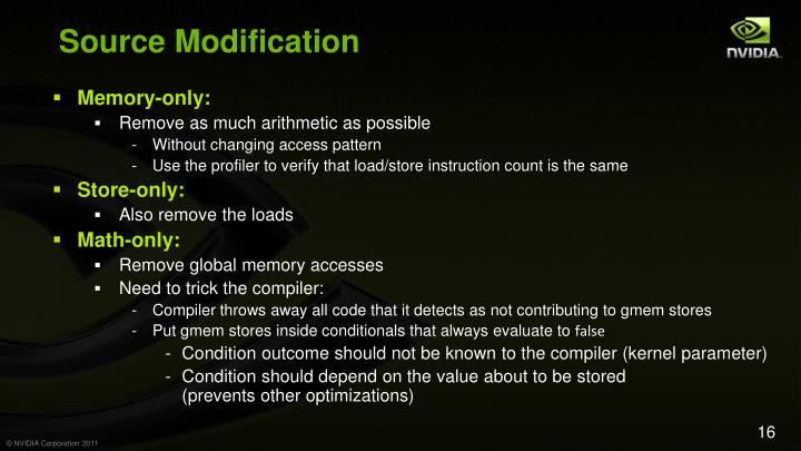 Source Modification