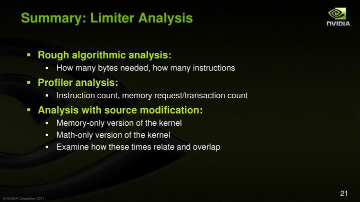 Summary: Limiter Analysis