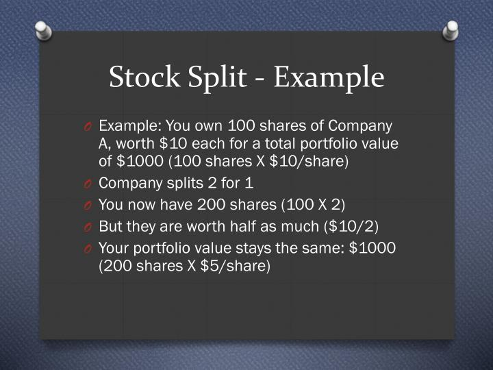 Stock Split - Example