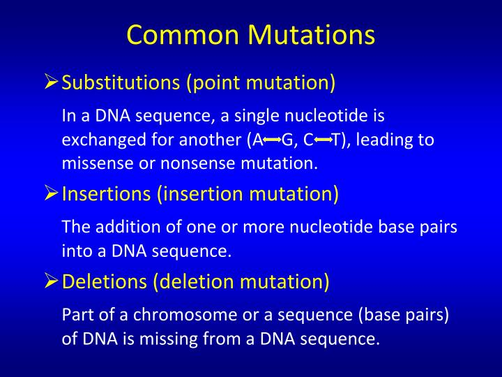 Common Mutations