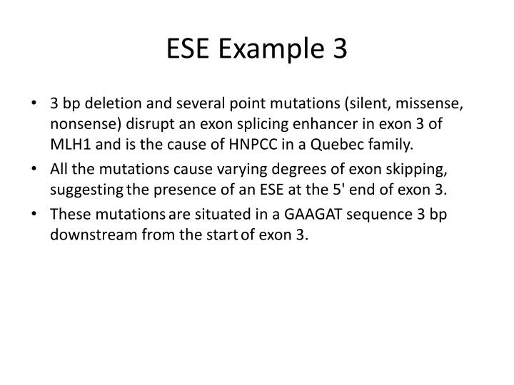 ESE Example 3