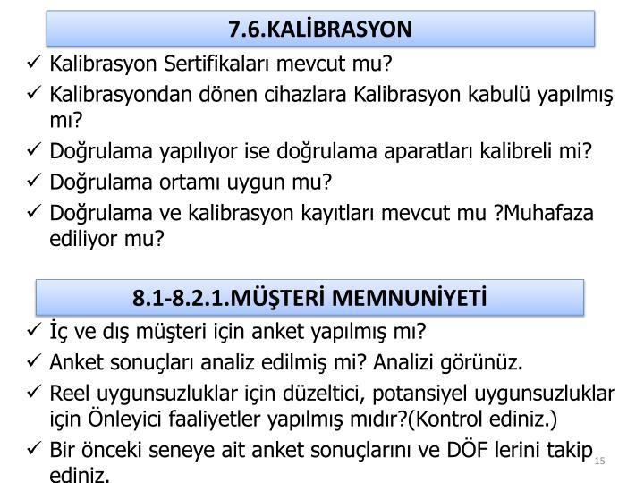 7.6.KALİBRASYON