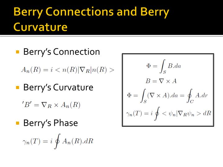 Berry Connections and Berry Curvature