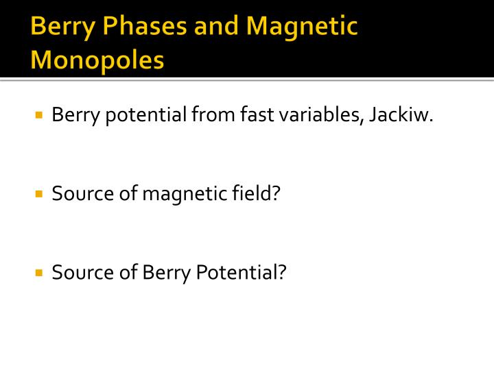 Berry Phases and Magnetic Monopoles