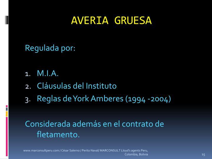 AVERIA GRUESA
