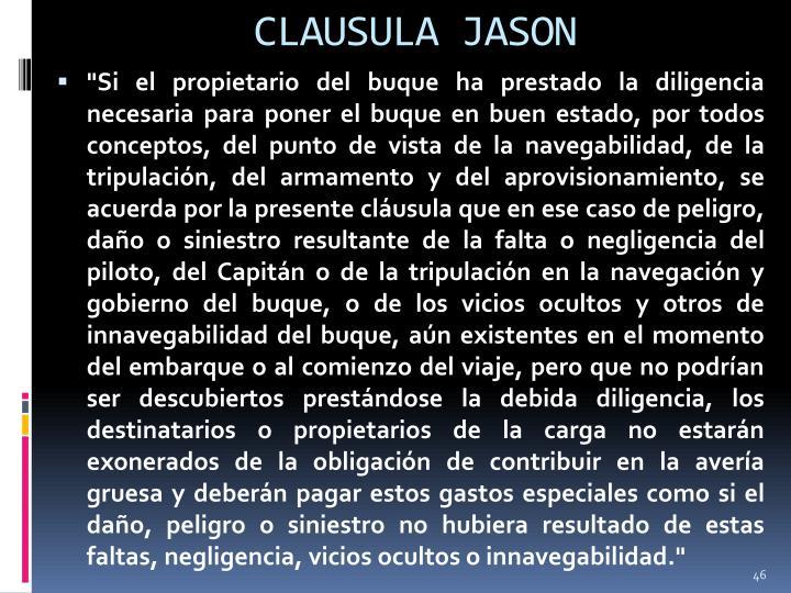 CLAUSULA JASON