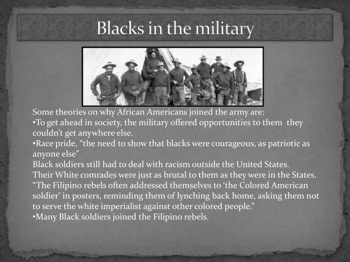Blacks in the military